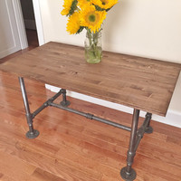 Coffee Table, Table, Handmade Table, Industrial Table, Wooden Table, Living Room Table, Steel and Wood, Cocktail Table, TV Stand