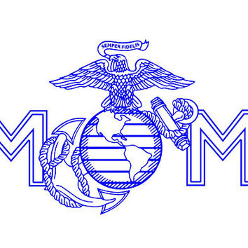 USMC Mom Decal United State Marine Corp Decal USMC Car Decal USMC Window Decal Armed Forces Decal Truck Decal Vinyl Decal