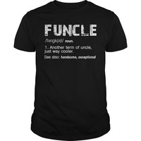 Funny Uncle Funcle Definition Grunge Shirt