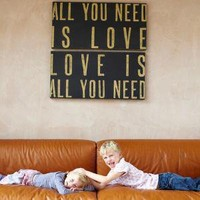 All You Need Is Love Canvas ? Cox & Cox, the difference between house and home.