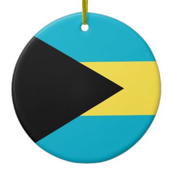 Ornament with flag of Bahamas