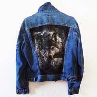 Lone Wolf jean jacket - small - Lee denim jacket