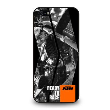 KTM MOTORCYCLE READY TO RACE iPhone 5 / 5S / SE Case
