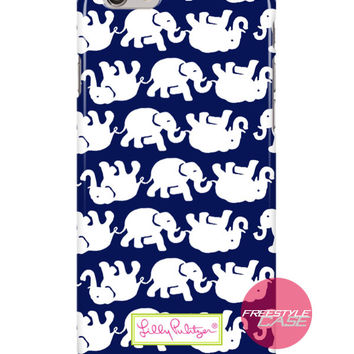 Lilly Pulitzer Tusk In Sun Navy Elephant Inspired iPhone Samsung Case Series