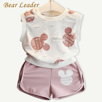 Bear Leader Girls Clothing Sets 2016 Fashion Summer Kids Clothing Sets Lovely Doll Print T-shirt+Short 2Pcs for Girls Clothes