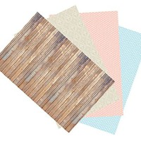 Ella Bella Photography Backdrop Paper, 4-feet by 12-feet, 4 Assorted Designs (Pack of 4)