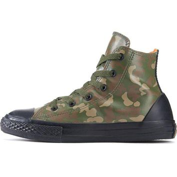 ONETOW Converse for Kids: Chuck Taylor All Star Rubber Green Camo Sneakers