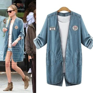 Women's Fashion Denim Tops Windbreaker [37749915674]