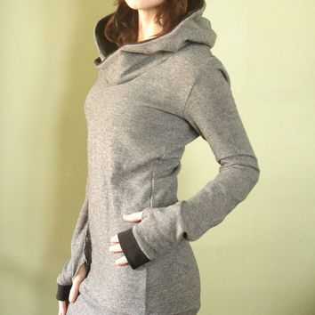 sweater tunic dress/ extra long sleeves w/thumbholes by joclothing