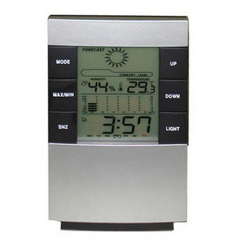Digital Calendar Thermometer Hygrometer Clock Home Large LED Backlight Alarm Clocks Display Time Data Week and Temperature