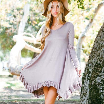 Bluff Hills Ruffle Dress