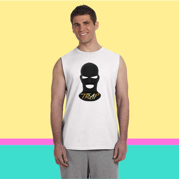 Trap House Ski Mask Sleeveless T-shirt
