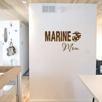 Military Marine Wife Sister Mom Dad Brother Girlfriend Vinyl Wall Words Decal Sticker