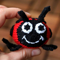Marie the Ladybug knitting pattern for beginners and advanced knitters, spring gift and decoration, easter, gift for kids and adults