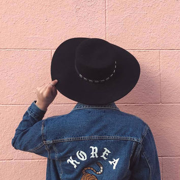 Korea Embroidered Denim Jacket