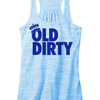 Old dirty Women's Flowy racerback. Old Dirty Racerback. Norfolk shirt