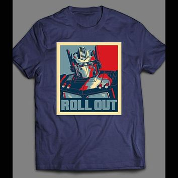 TRANSFORMER OPTIMUS PRIME ROLL OUT POP ART T-SHIRT