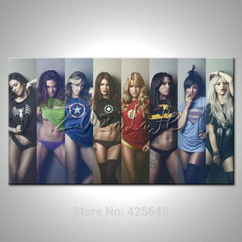 Comics Marvel Avengers Super Heroes Poster Canvas Prints HD HOME WALL Decor ART Pictures Wallpaper Spray Cartoon Picture Cuadros
