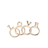 With Love From CA Love Letter Rings at PacSun.com