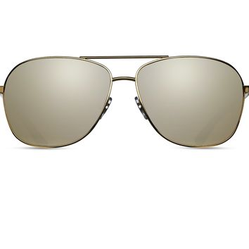 Matsuda M3011C Gold with Gold Mirror Lens Sunglasses