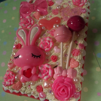 Kawaii Love Bunny Decoden Deco Case for iPad Mini by Lucifurious