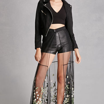 Rehab Embroidered Maxi Skirt