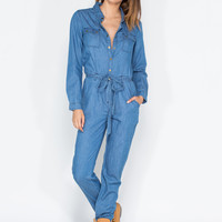 Work Up Chambray Utility Jumpsuit
