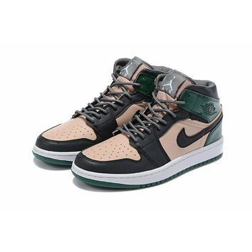 Air Jordan 1 High Premium Cracked Metallic Leather Material - Best Deal Online