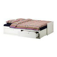 BRIMNES Daybed frame with 2 drawers, white - Twin - IKEA