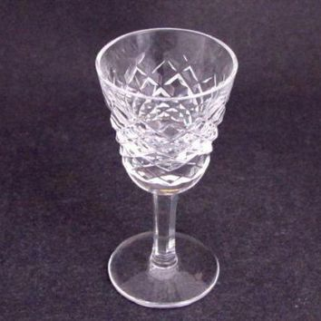 Signed Waterford glass Hand Cut  liquor Alana pattern Irish Crystal