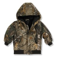 Carhartt Baby Boys' Camo Active Jac Inf Tod, Brown, 12 Months