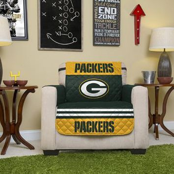 Green Bay Packers Chair Furniture Protectors With Elastic Straps
