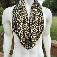 Leopard Print Infiniy Scarf-Women's infinity scarf-Animal Print-Mommy and Me Leopard Scarf