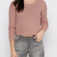Lavender Cropped Waffle Knit Sweater | Sweaters | rue21