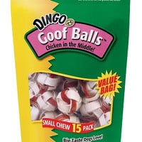 Dingo Goof Balls Rawhide Chicken Jerky Chews 15 Pack