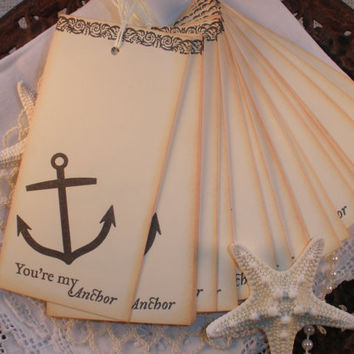 Wedding Wish Tree Tags Anchor Set of 25