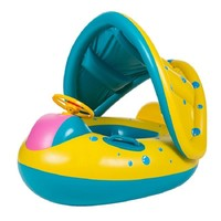 Portable Inflatable Swan Baby Kids Safety Swimming Ring Float