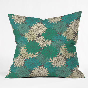 Holli Zollinger Flora Minted Outdoor Throw Pillow