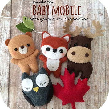 Custom Baby Mobile - Choose Your Own Characters
