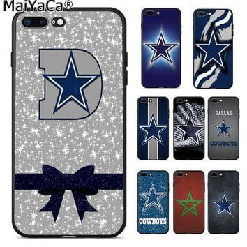 MaiYaCa Dallas Cowboys Glitter TPU Soft Silicone Phone Case Cover for iPhone 8 7 6 6S Plus 5 5S SE XR X XS MAX Coque Shell