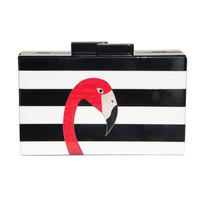 Acrylic Flamingo Clutch