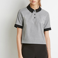 Houndstooth Polo Top