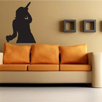 Rock Band Rock Star Singer Let's Rock Wall Art Sticker Decal 3