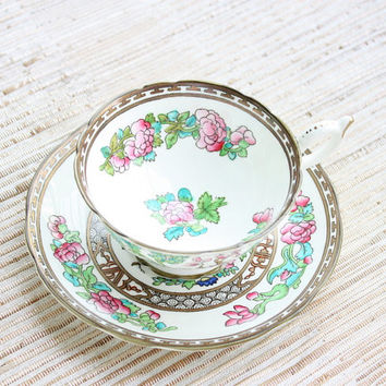 Indian Tree Coalport Bone China Made In England Original Engraving Indian Tree Cup And Saucer Period 1801 / Tea Party / Bridal Gift