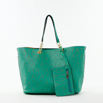 Perforated Double Bag Tote