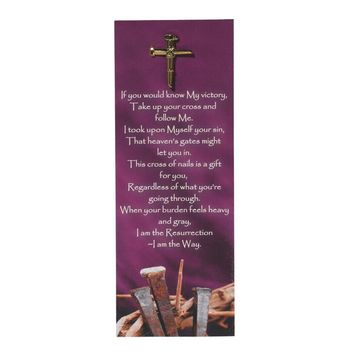 Nail Cross Lapel Pin with Bookmark (FREE SHIPPING)