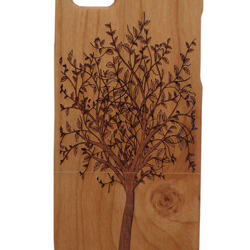 Tree of life print Iphone 5 /5s/ 6 wooden engraved bamboo phone case cover