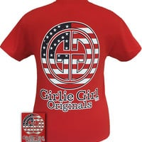 Girlie Girl Originals Logo USA American Flag Patriotic Bright T Shirt