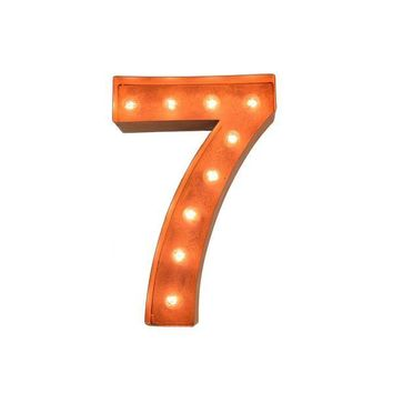 "12"" Number 7 (Seven) Sign Vintage Marquee Lights"