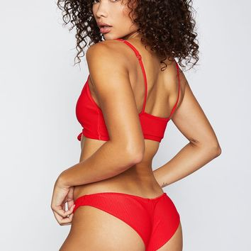 Frankie's Bikinis 2018 Greer Bottom in Red